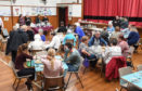 A community meal organised by Moray Foodbank at Elgin High Church in the summer 2018