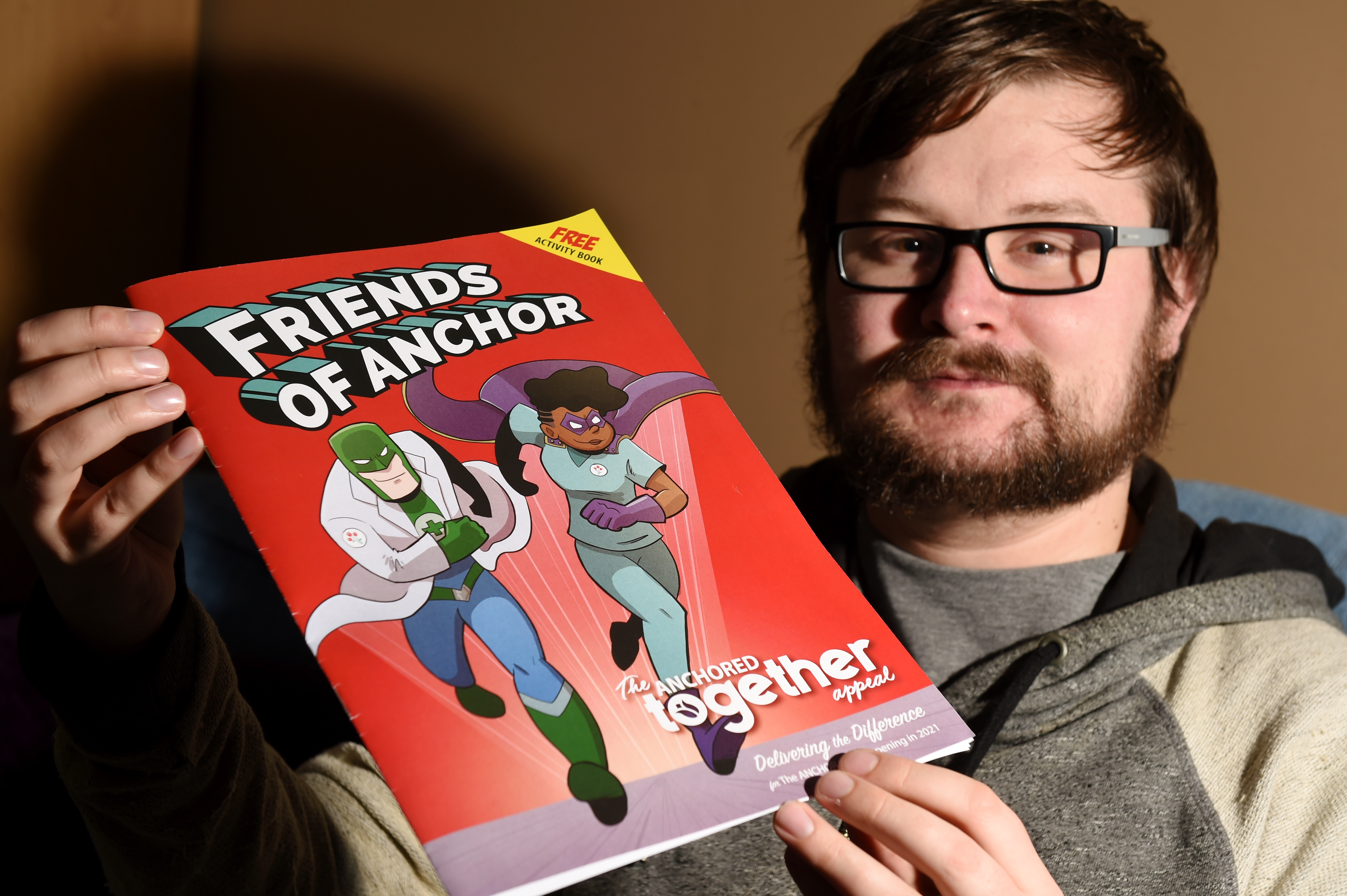 Craig Munro is a comic book artist who helped create a comic for Friends of Anchor's Anchored Together campaign (Picture by Kenny Elrick)
