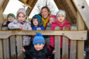 MSP GILLIAN MARTIN MEETS TODDLERS AT THE FLOWERPOTS NURSERY IN TURRIFF WHEN SHE FORMALLY OPENED IT.