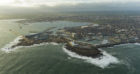 Peterhead port from the air.