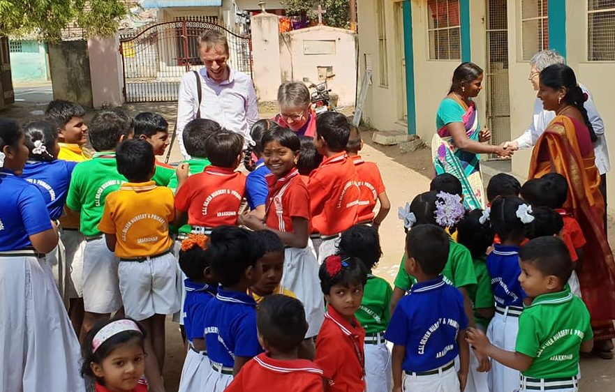 Right Rev Susan Brown in India