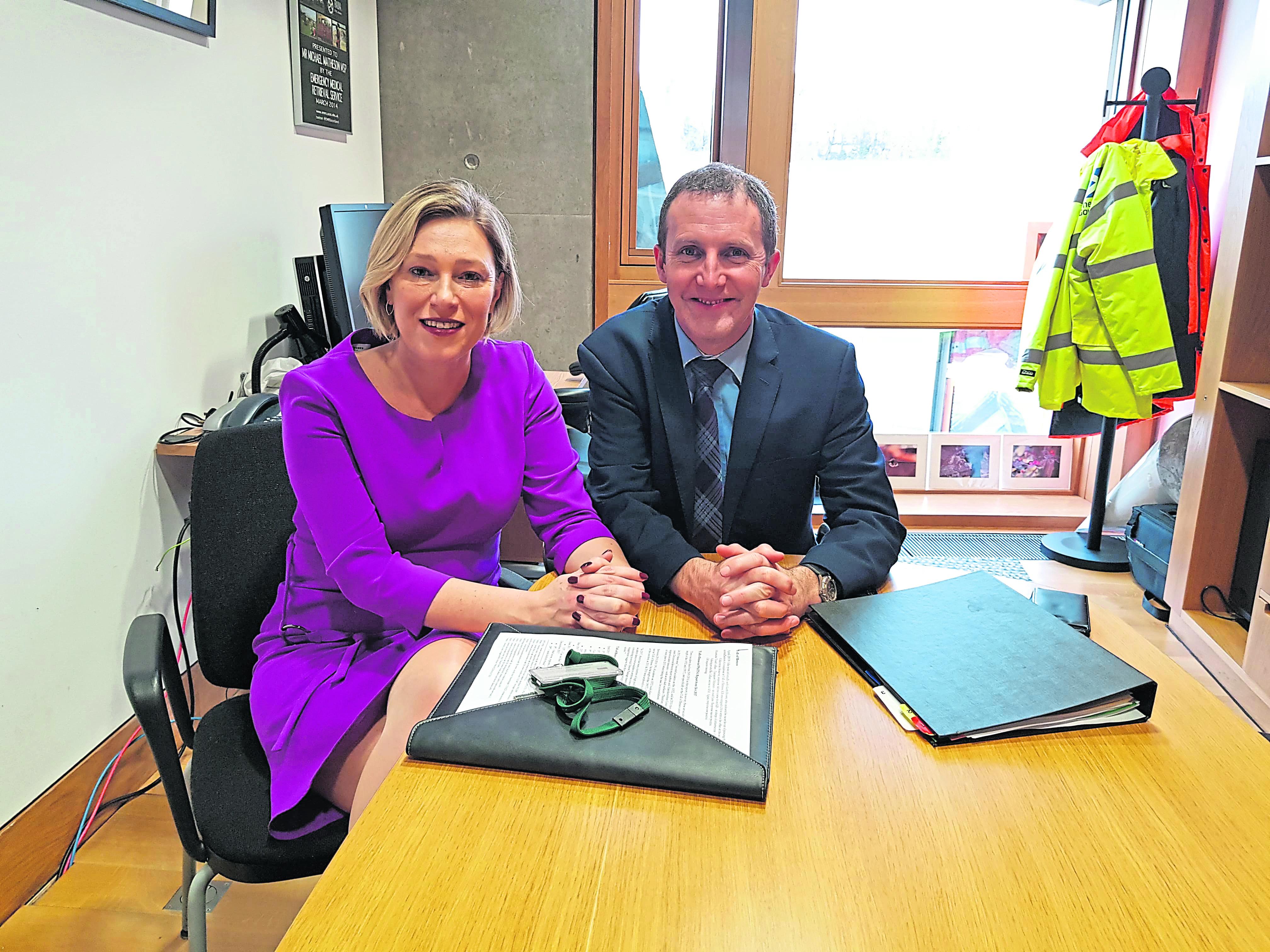 Aberdeenshire MSP Gillian Martin meeting Michael Matheson to discuss the Toll of Birness