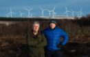 Mark Houldsworth (left) and George Herraghty are members of Save Wild Moray, a group set up to stop the wind turbines.