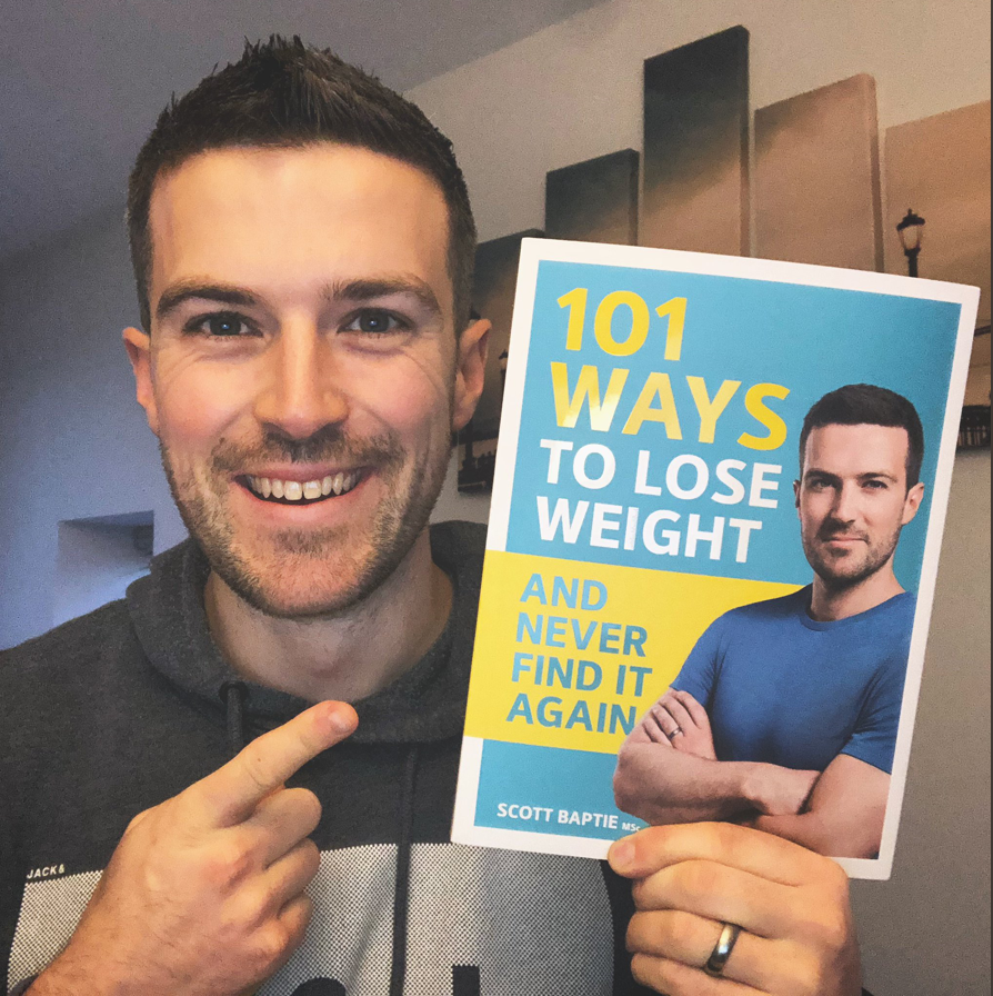 Scott Baptie with his #1 book