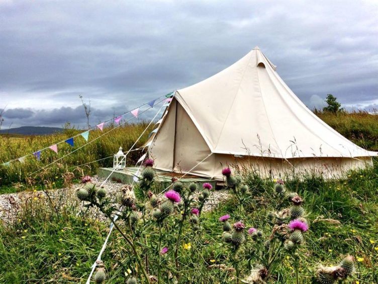 Skye Eco Bells Glamping: This cosy tent sleeps a family of four, and has its own fire pit and barbecue area to sit under the stars