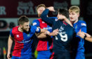 29/12/18 LADBROKES CHAMPIONSHIP ROSS COUNTY VS INVERNESS CT THE GLOBAL ENERGY STADIUM-DINGWALL Ross County's Brian Graham (right) is sent off after throwing a punch at Inverness CT's Shaun Rooney.