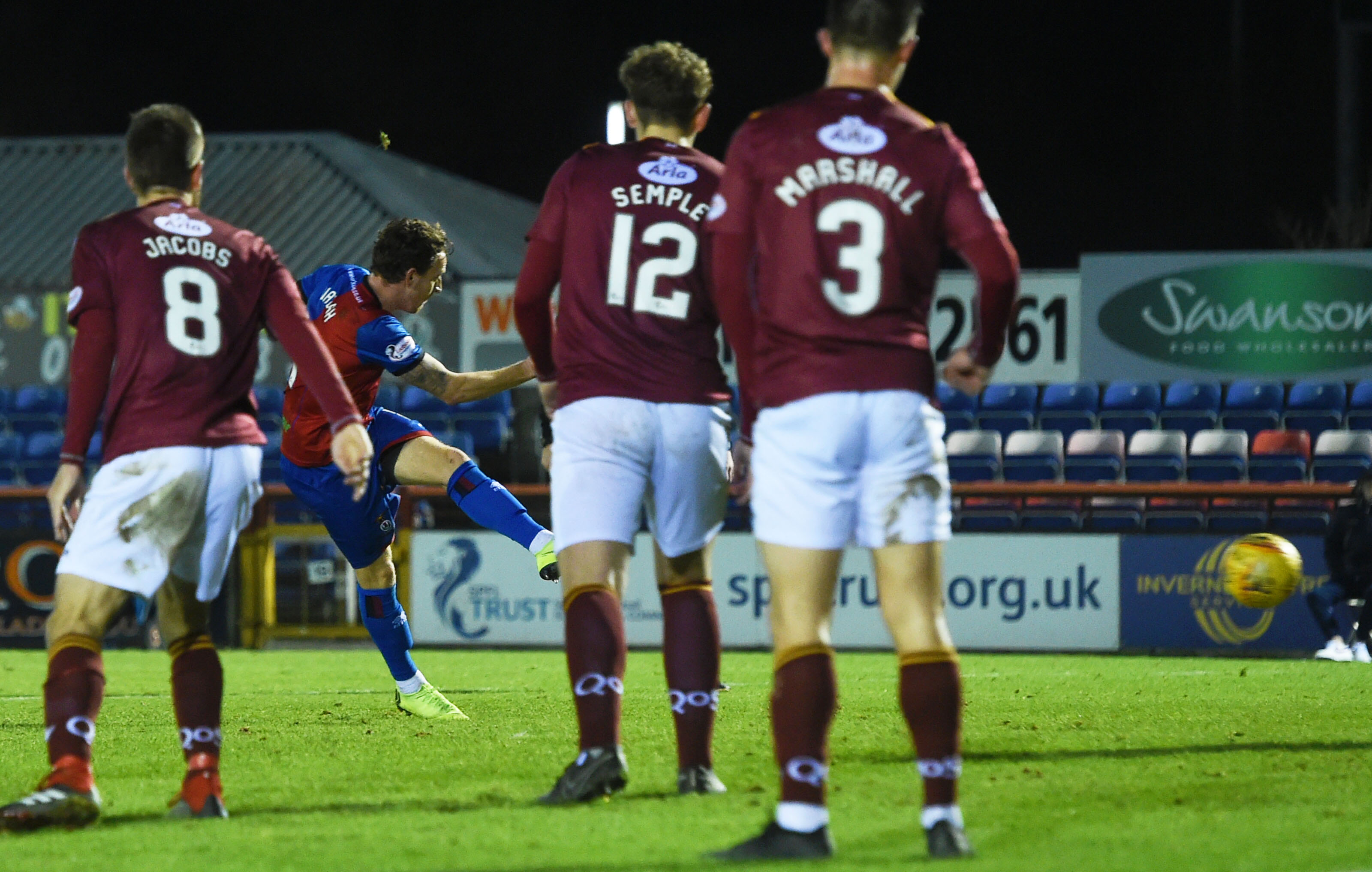 Tom Walsh opened the scoring for Caley Thistle.