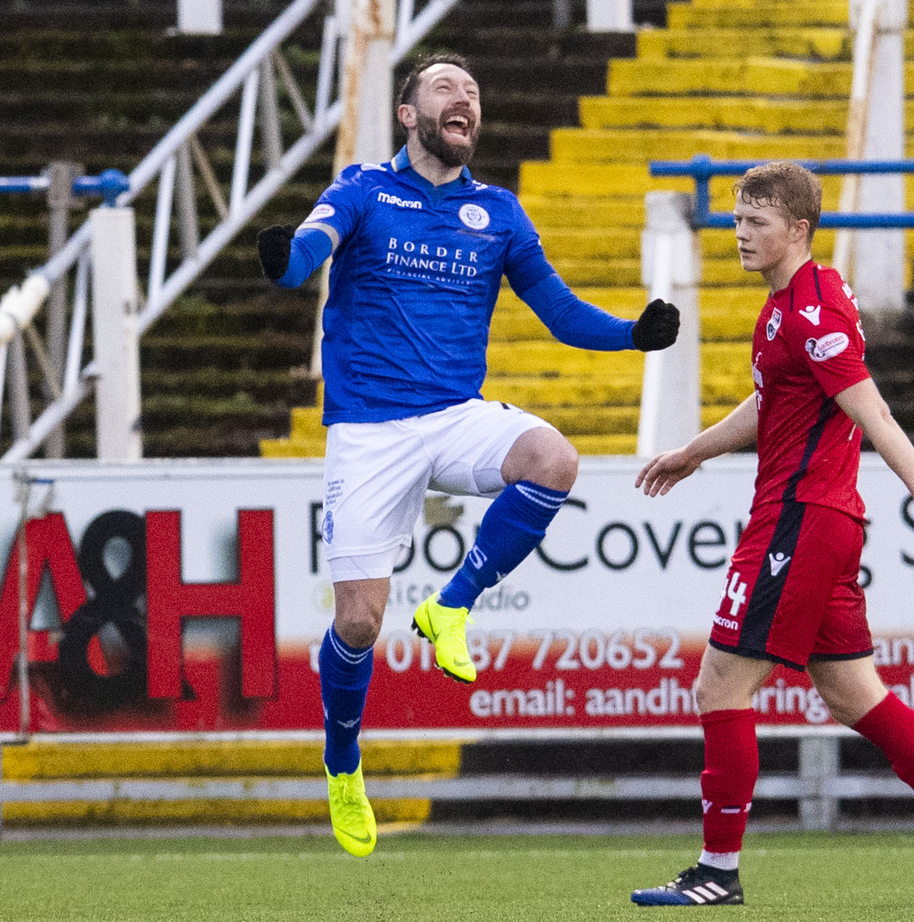 12/01/19 LADBROKES CHAMPIONSHIP QOTS v ROSS COUNTY PALMERSTON PARK - DUMFRIES Queen of the South's Stephen Dobbie celebrates his opener