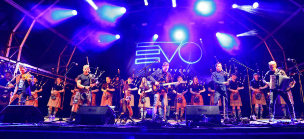 Joyous scenes like this one of Skerryvore and Oban High School Pipe band in 2018, will not be replicated in 2020 after organisers announced it is taking a break