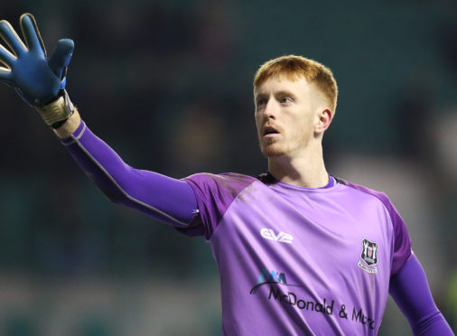 Elgin City goalkeeper Thomas McHale.