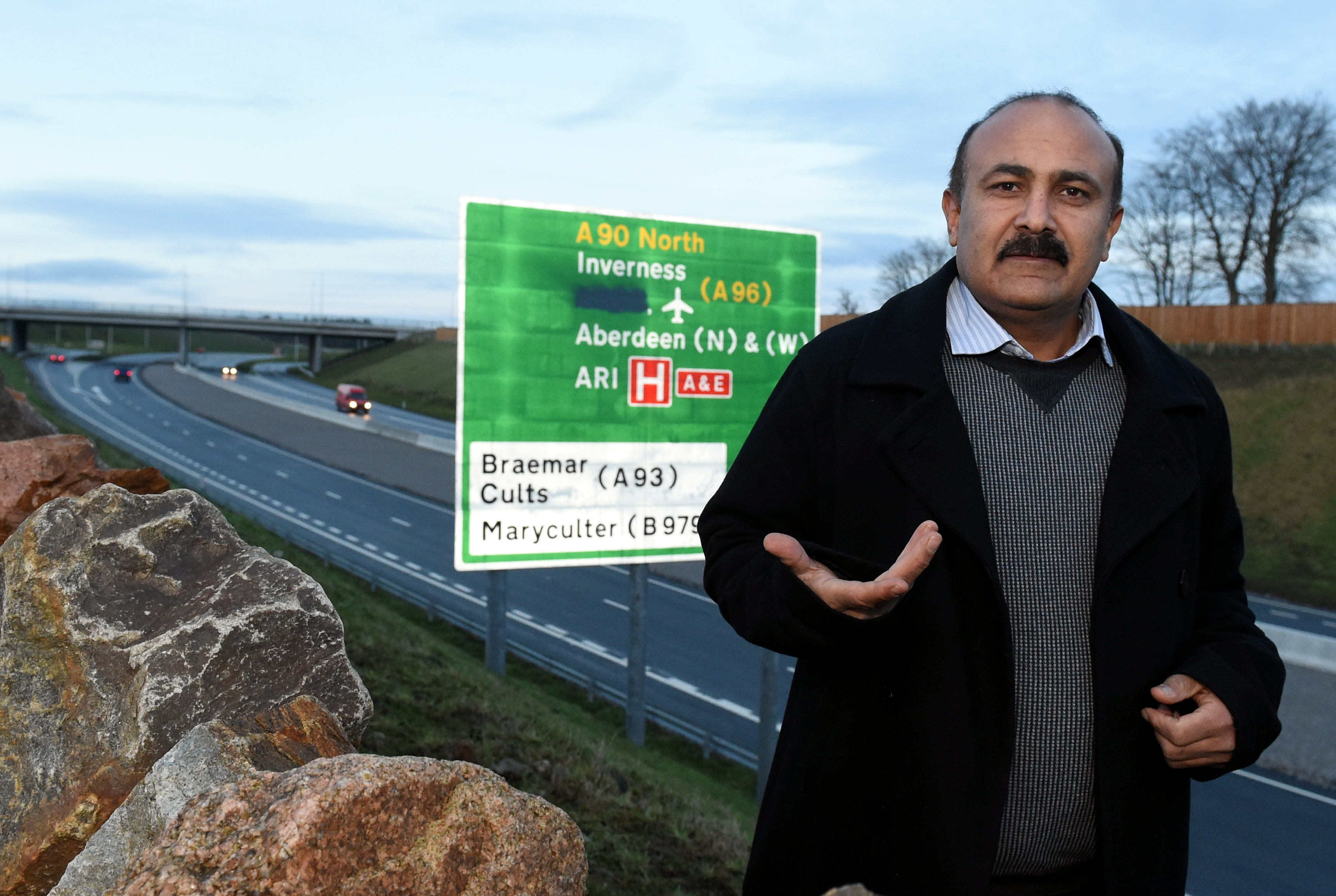 Tauqeer Malik has been fighting for improved signage to Peterculter