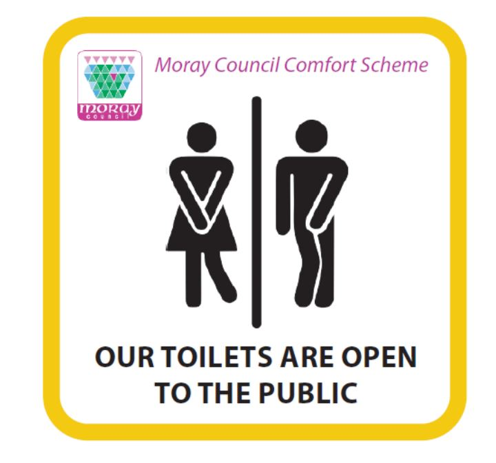 Moray Council's logo for its comfort scheme.
