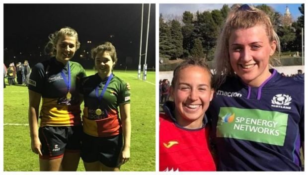 Sophie Anderson made her debut for the Scottish Women's Rugby Team against Spain in Madrid.