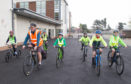 Sustrans Scotland I Bike volunteers work with I Bike schools across the country supporting children to cycle, scoot and walk to school.