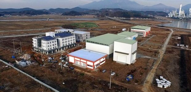 How the proposed campus in Hadong, South Korea, was to look.
