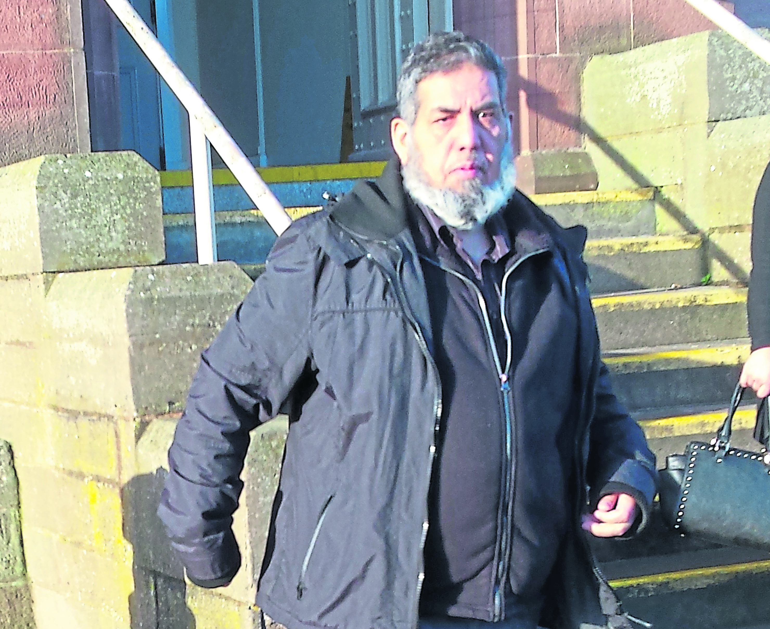 Muhammed Yunis - bus driver at wheel of terrifying journey for passengers to Inverness.  Picture by Copyline/David Love 22/01/2019