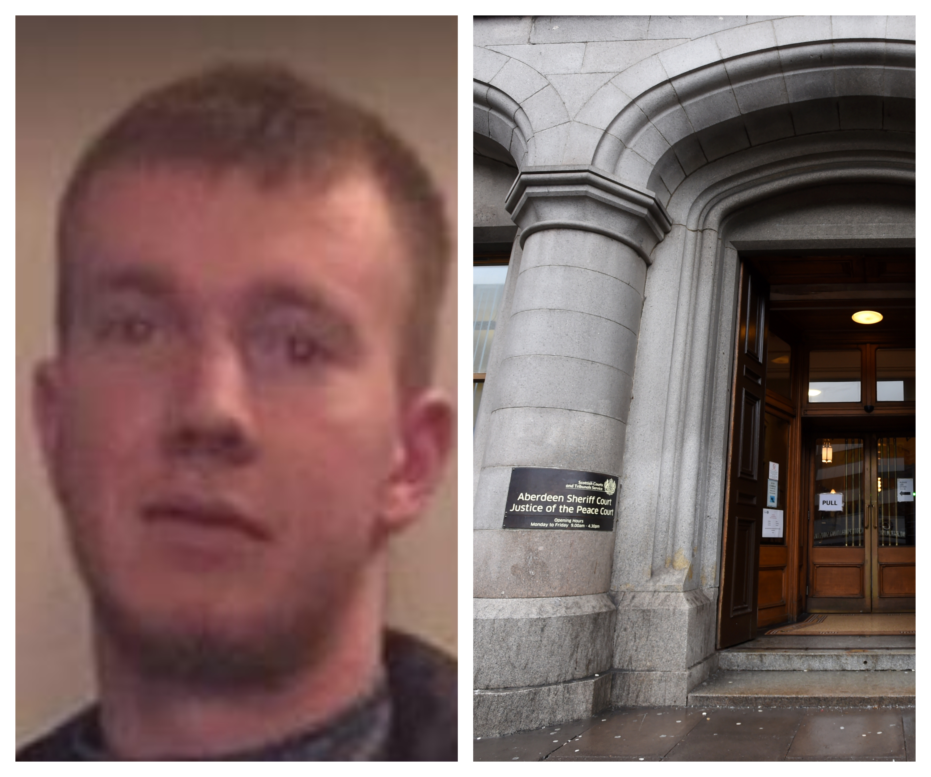 Jed Duncan escaped from custody outside Aberdeen Sheriff Court.