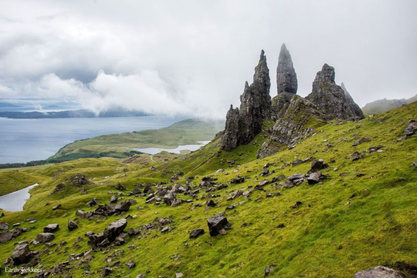 Old Man of Storr: This large pillar of rock dominates the landscape in the north east of Skye