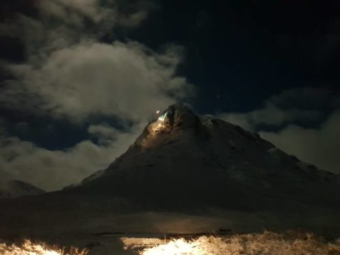 The skyline at Buachaille Etive Mor where Glencoe Mountain Rescue team made a rescue in the small hours of the morning. Credit: Ruaridh Mills