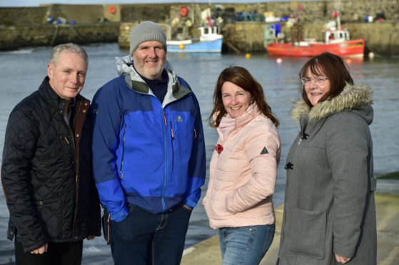 The Rosehearty Harbour and Inshore Fishermen's Association office bearers (L-R) David Whyte, Ross Downie, Dawn-Marie Duncan and Shirley Whyte.