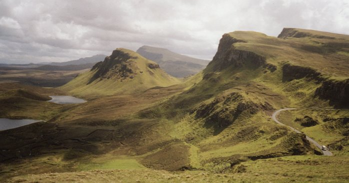 The Quiraing: The Quiraing loop is a spectacular walking route for the more confident with heights