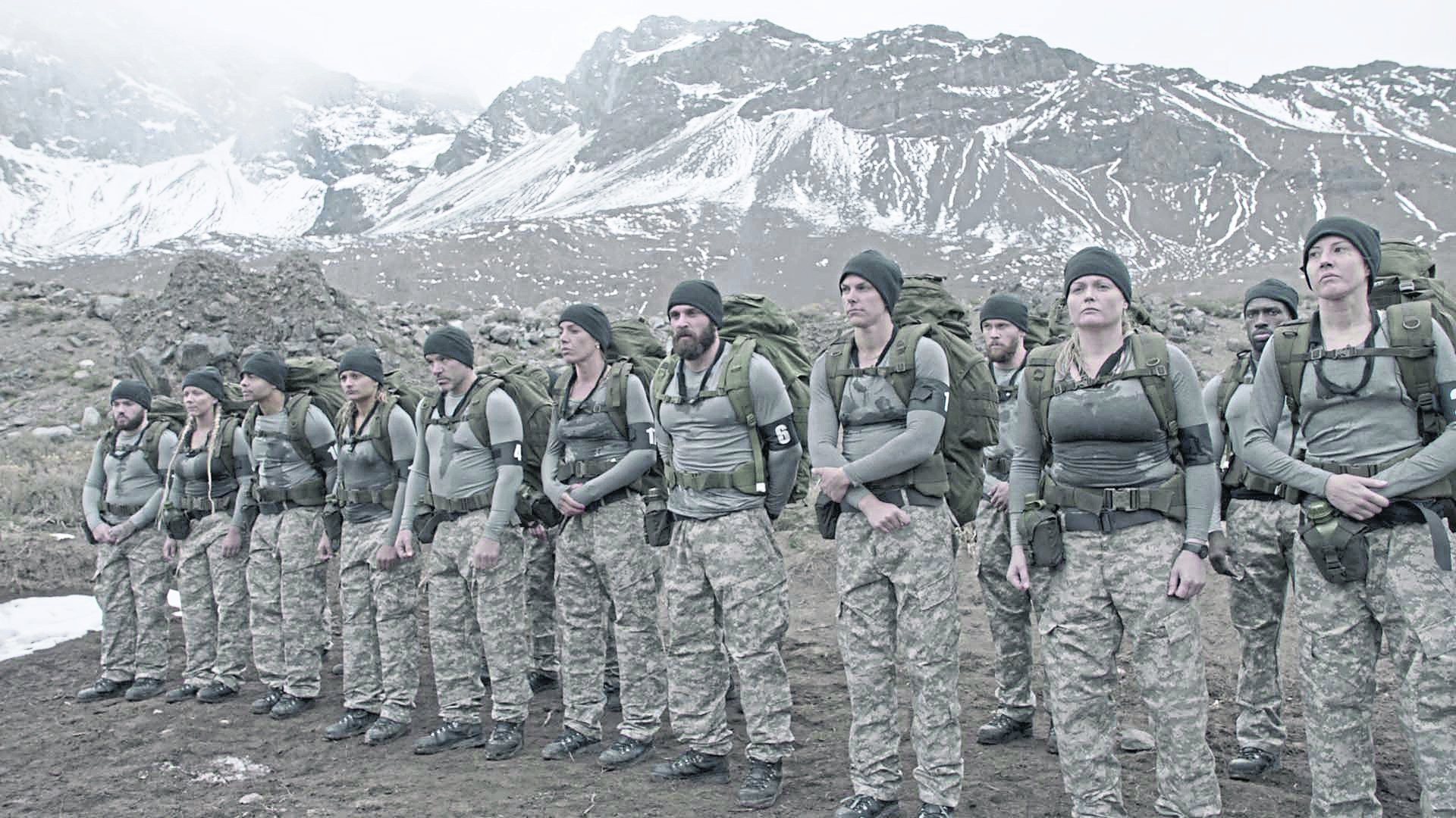 Louise McCullough and other members of the group of the C4 show Who Dares Wins. Cameron, Sharissa, Nathaniel, Kat, Stacy, Vicki, Mark, Julie, Rick, Nadine, Sam, Tracey