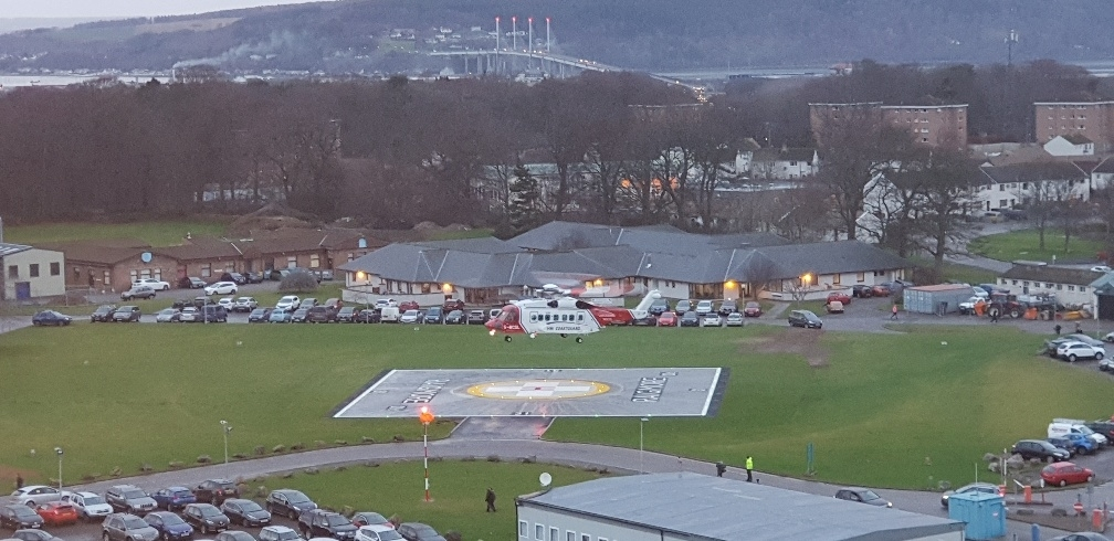 Take off! The £600,000 upgrade of Raigmore Hospital's helipad is now complete