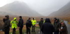 Councillors gather at the Skyfall car layby in Glen Etive in February, prior to making a planning decision about seven hydro schemes in the area.
