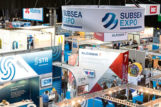 Pictured is the Subsea expo conference, taken with permission from a press release.