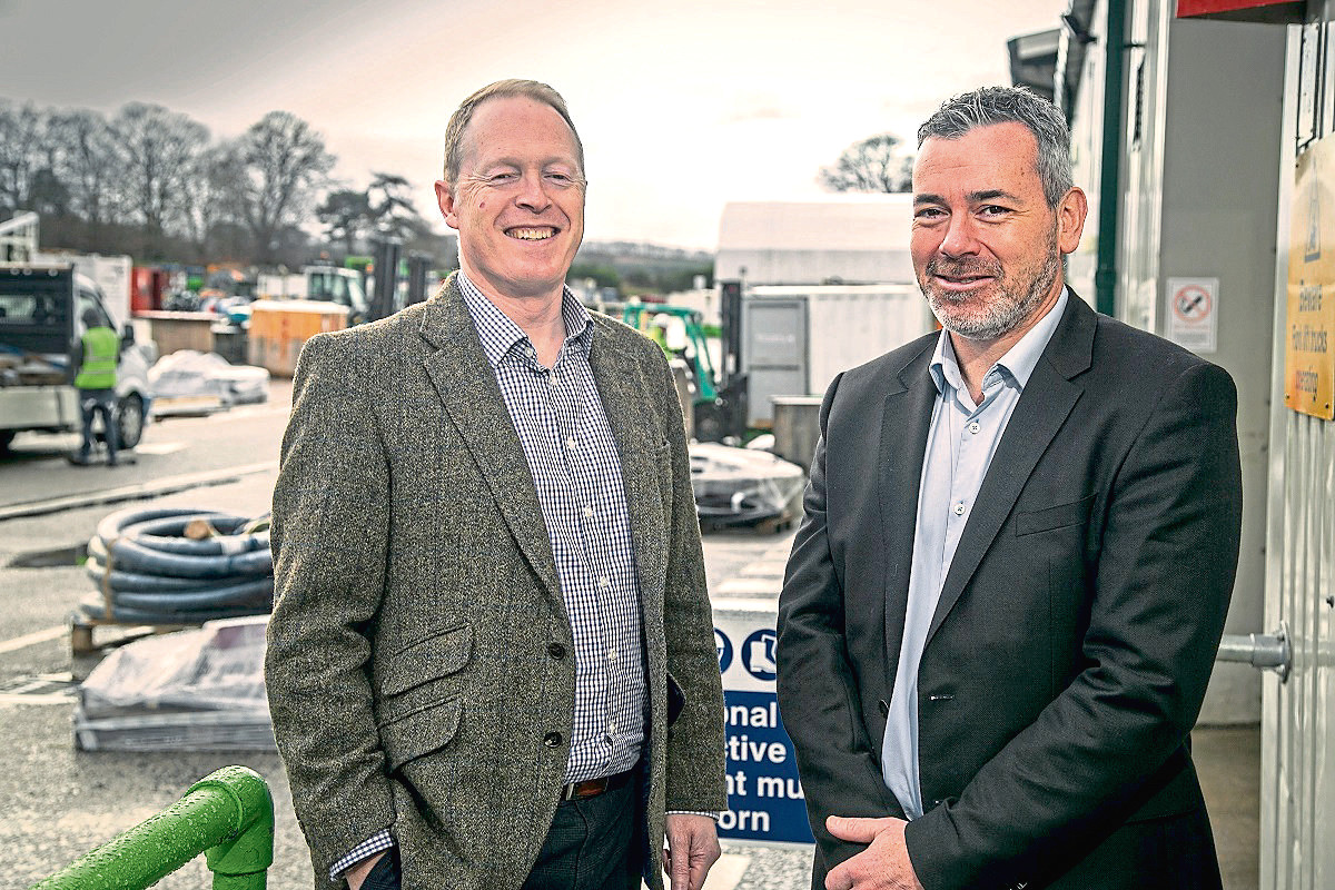 l-r Duncan Frame, general manager. south west, EnerMech, and Ross McHardy, the company's regional director for Europe