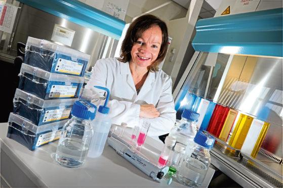Deborah O'Neil, chief scientific officer for NovaBiotics Ltd, at their laboratory in the Cruickshank building, Craibstone.