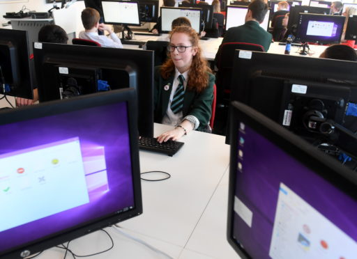 Pictured is Kiera Whyte, 15, from Cults Academy.