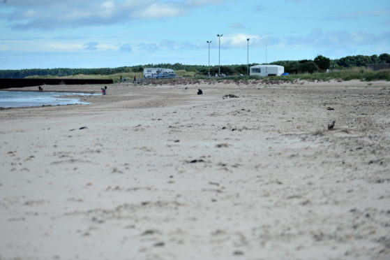 Nairn west beach. Picture by David Whittaker-Smith.