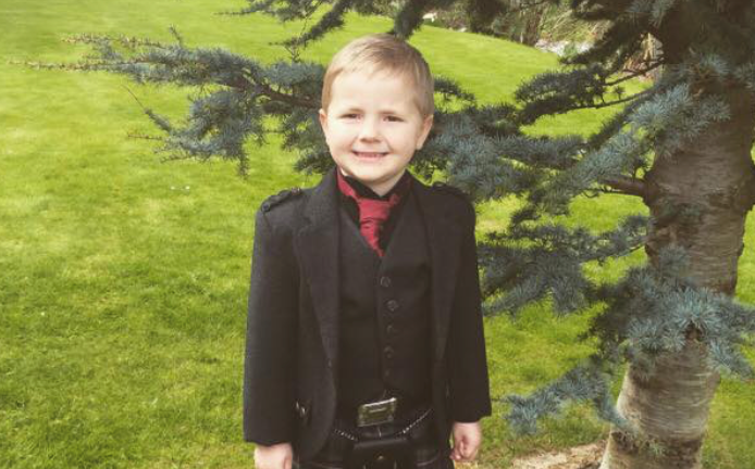 Brodie Stewart, 6, is taking part in Run Garioch for Chest Heart & Stroke Scotland