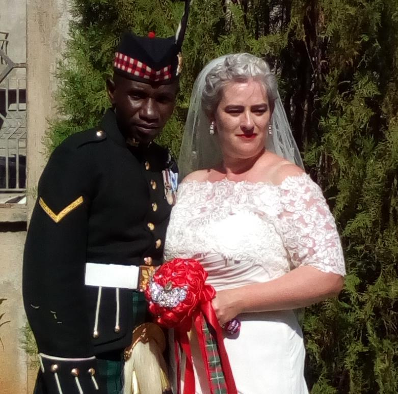 L/Cpl Denis Omondi and his wife Shelagh.