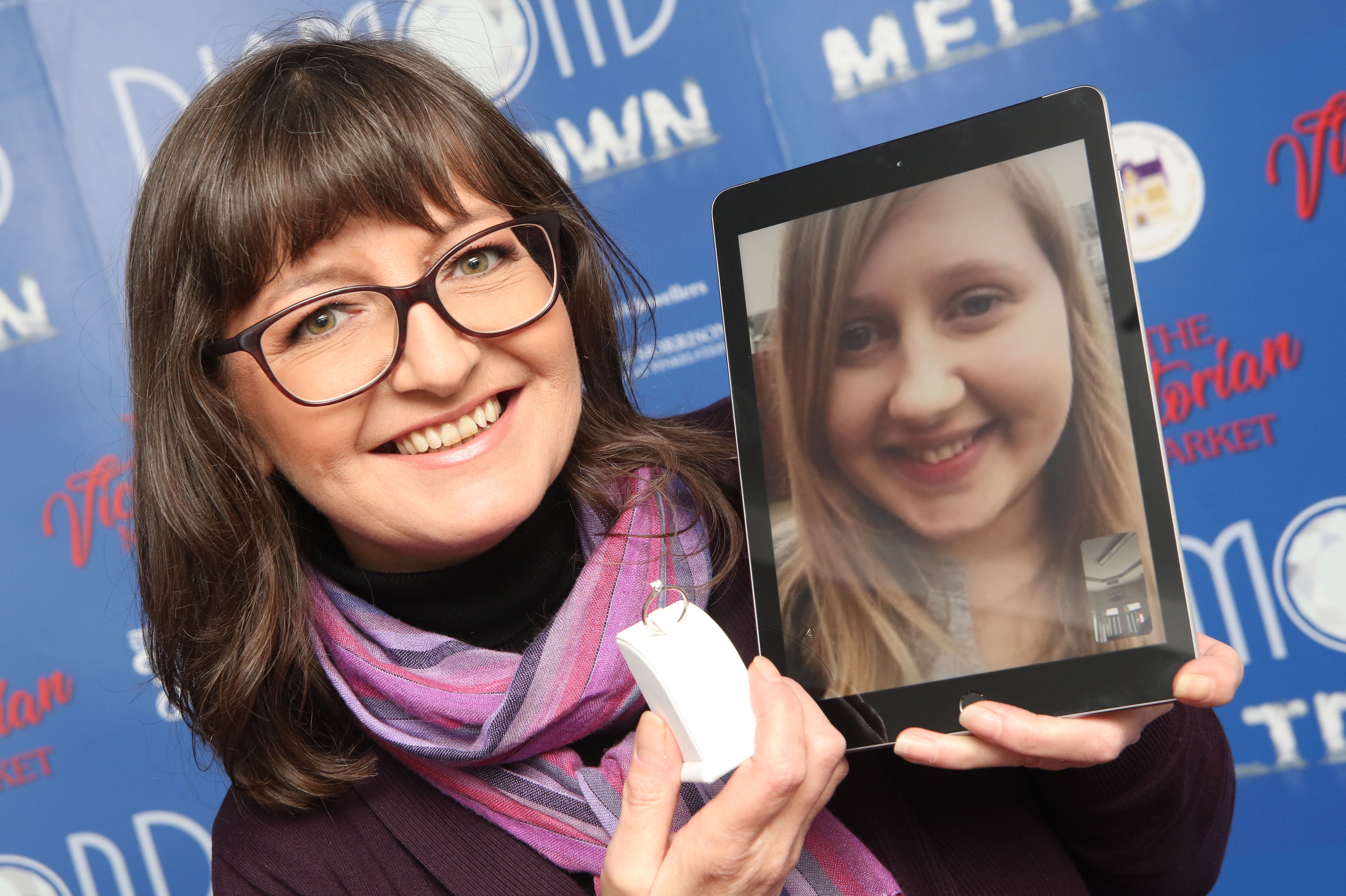 Jo Murray, manager of the Victorian Market in Inverness, who made a video call to Diamond Meltdown winner, Jessica Walker.