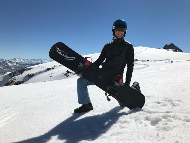 Snowboarder Douglas Green