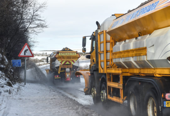 Gritters out on the roads.