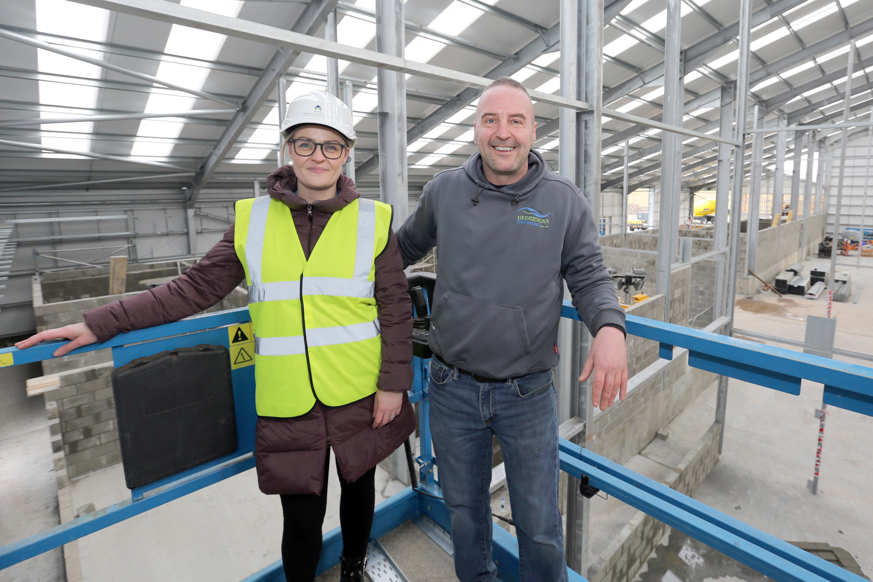 Joanna Peteranna, HIE, and Martin Macleod, managing director of Hebridean Seaweed.