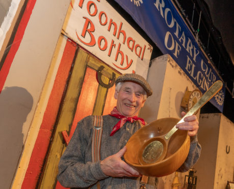 Hector Riddell won the 37th bothy ballads celebration at Elgin Town Hall.