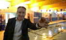 Richard Lochhead, who signed up for a fitness card today at Lossiemouth Swimming Pool.