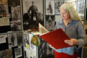 Susan Carstairs at the exhibition to remember the Arisaig people who served in the first world war.