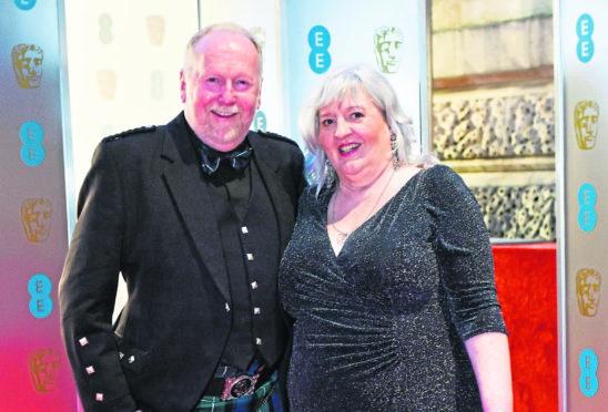 BAFTA winner Iain McColl and his wife Liz.