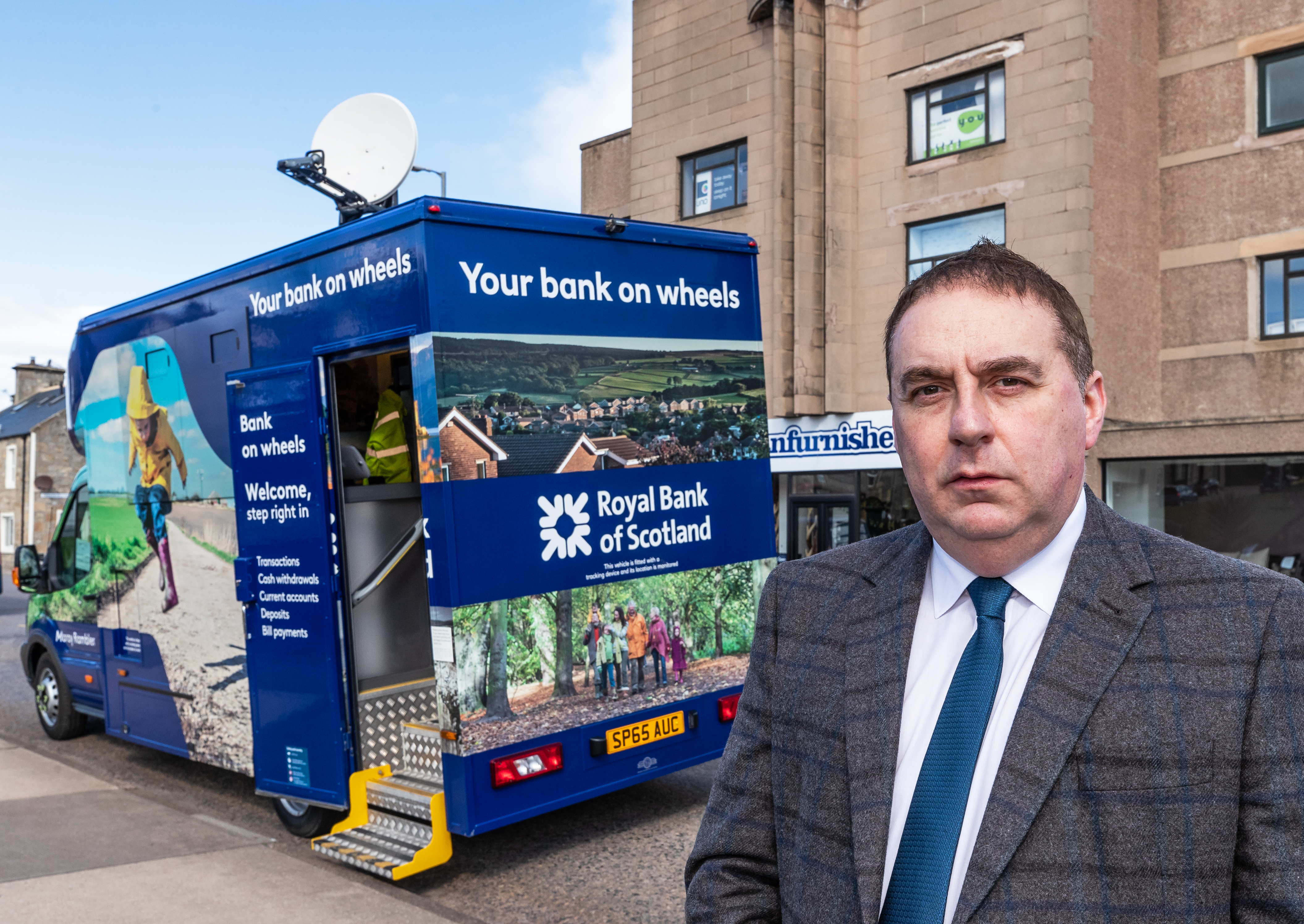 Councillor James Allan, whose hometown faces losing its final bank this year, is campaigning for rural access to banking