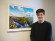 Charles Fletcher and his artwork, inspired by the Dava Moor.