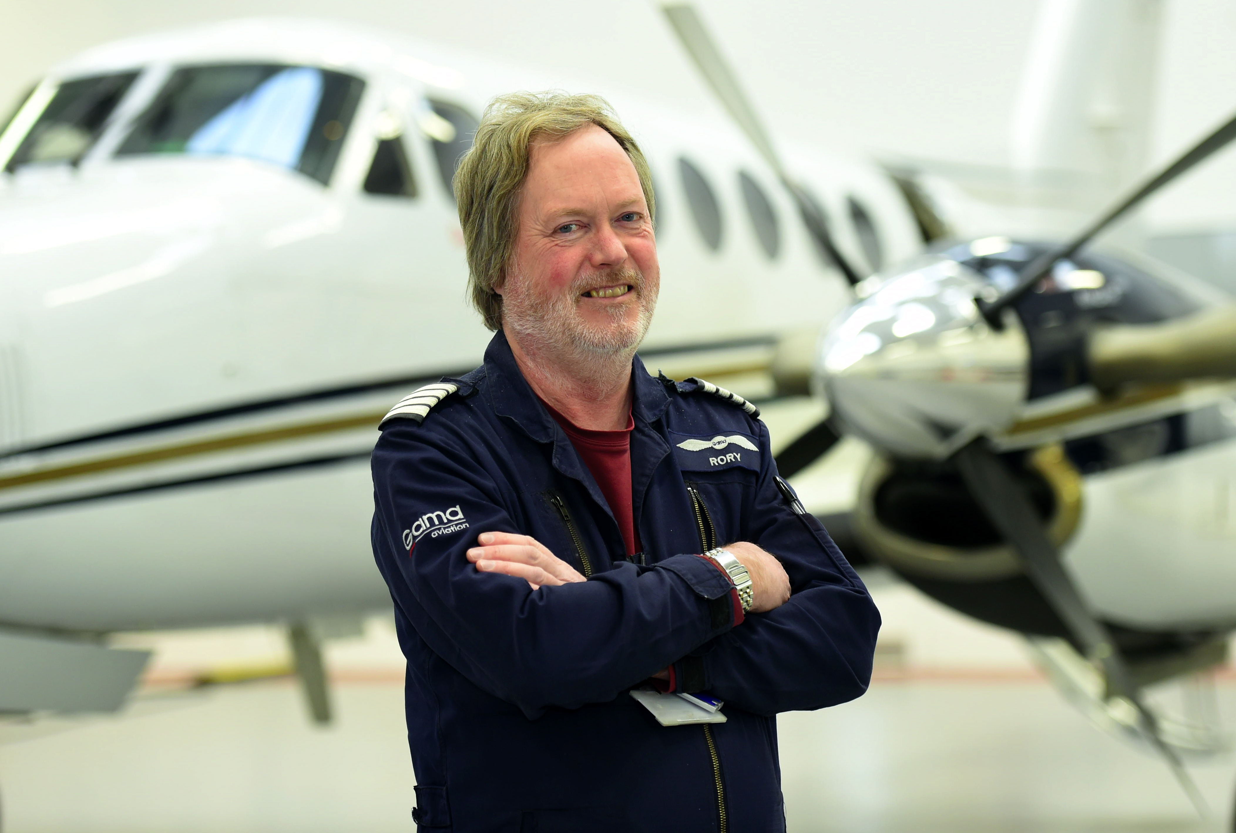 Rory Macdonald has been an Air Ambulance pilot for 25 years.