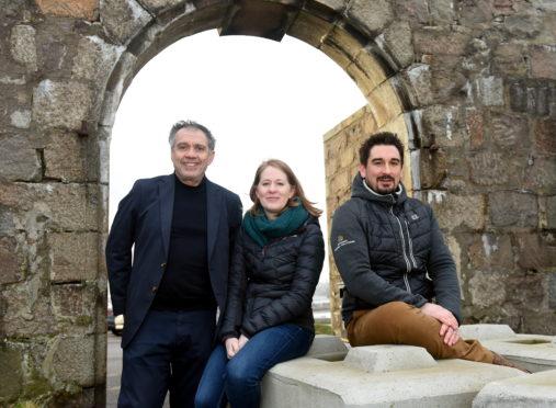 Professor Gokey Deveci, Fiona McIntyre and Bryan Gray.
