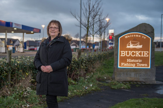Councillor Sonya Warren pictured at the entrance to Buckie, Moray. Picture by Jason Hedges.
