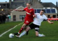 Fraser Robertson, right, has left Clachnacuddin to join Rothes.