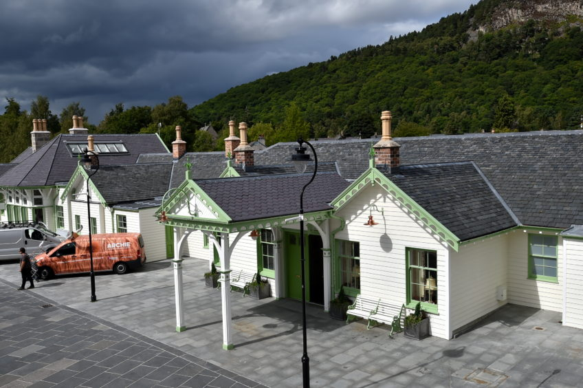 Ballater Royal Station after its renovation.